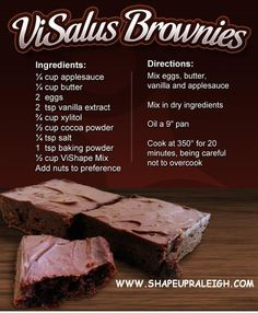 Visalus Brownies    Body by Vi 90 Day Challenge     Recipes   Sign up: www.aimeefields.bodybyvi.com