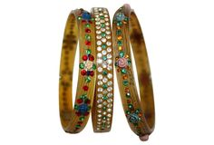 1920s Jeweled Celluloid Bangles