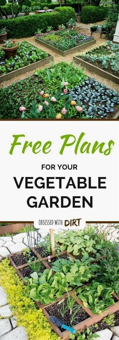 Four super easy vegetable garden layouts. There's one for every size garden with very clear instructions and a free planting plan too! Read more #VegetableGardening