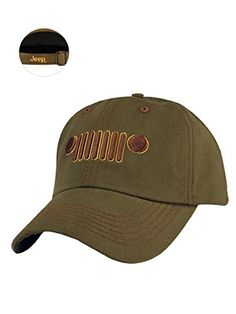 Jeep Grille Logo Classic Cap cotton twill construction Full jockey  shape----unstructured Buckle closure----One size fits most Embroidered Jeep®  grille cbef8ba0ffd1