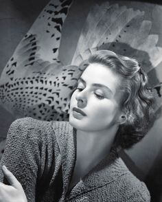 Ingrid Bergman photographed by John Engstead, 1940 Ingrid Bergman, Old Hollywood Movies, Hollywood Actresses, Actors & Actresses, Old Actress, Best Actress, Hollywood Glamour, Classic Hollywood, Hollywood Icons