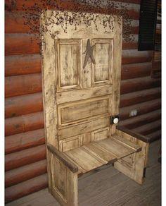 Rustic Door Bench / Entryway Bench