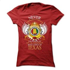 Never Underestimate An Alabamian Who Lives In Texas - #red hoodie #sweater dress outfit. I WANT THIS => https://www.sunfrog.com/Faith/Never-Underestimate-An-Alabamian-Who-Lives-In-Texas.html?68278