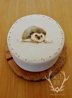 Hedgehog Love by Sweet Deer Hand-Painted Cakes