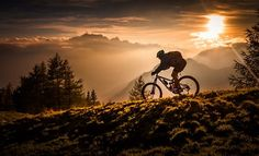 Golden hour biking - berto - Mountain Biking Pictures - Vital MTB Link to a stunning set of pictures! Mountain Biking, Motocross, Visit Yellowstone, Mtb Trails, Bike Photography, Rando, Sunset Art, Kayak, Bike Art