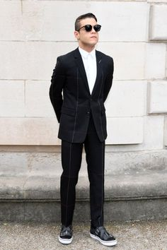 Rami Malek at the Dior Homme Spring 2018 Show is PERFECTION