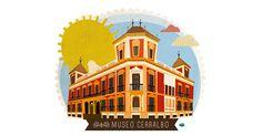 Cerralbo Museum by vireta for Mi Petit Madrid Madrid, City, Illustration, Mayo, Street, Illustrations, Orange, Yellow, Cities