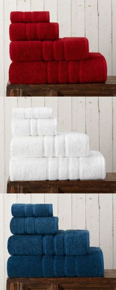 Red, White, & Blue: American Craft towels 100% made in USA. Quality, Heritage, Luxury