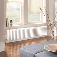 Acova 4 Column Radiator White, (B) 628 (H) 300 mm Bedroom Radiators, Home Radiators, Column Radiators, Traditional Radiators, Traditional House, Victorian Radiators, Horizontal Radiators, Victorian Living Room, Steel Columns