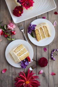 Triple Layer Vanilla Velvet Valentine Cake