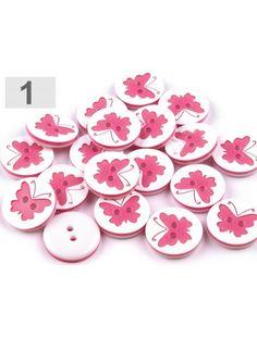 Nasture alb cu fluturas roz - set de 3 buc.
