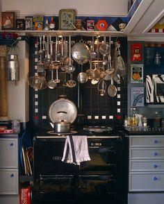 Black Eclectic Kitchen