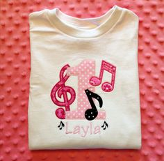 Hey, I found this really awesome Etsy listing at https://www.etsy.com/listing/153685619/music-notes-with-number-birthday-shirt