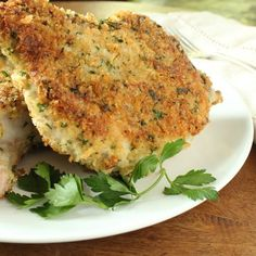 Panko Pork Chops  Ingredients  Canola or safflower oil  2 thick bone-in pork chops (about 2 pounds)  1/2 cup panko crumbs  2 tablespoons grated Parmesan cheese  1 heaping tablespoon minced Italian Parsley  1/4 cup all-purpose flour  2 eggs, lightly beaten  Kosher salt  Black pepper #AllAboutGolfAndGolfThings!