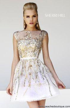 Sherri Hill Short Dress 21212 at Peaches Boutique