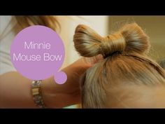 Minnie Mouse Bow Hairstyle - ModernMom Makeover - YouTube