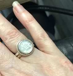 7cf72a6d1 ... best price pandora mother of pearl with 2 stack rings mother of pearl  pinterest pearls ring