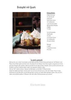 Bratapfel mit Quark, Mandeln und Meringue-Haube - Das Knusperstübchen