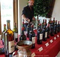 Barboursville Vineyards red wine vertical tasting. Fantastic wines. Virginia Wine Country.