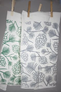 Screen Printed Woodland Kitchen Towels
