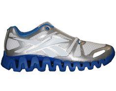 Reebok ZigDynamic White/Buff Blue/Silver Mens Running Shoes V51102