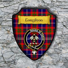 Congilton Plaque with Scottish Clan Badge on Clan Tartan Background by YourCustomStuff on Etsy https://www.etsy.com/listing/265715117/congilton-plaque-with-scottish-clan