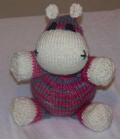 Free Pattern: Hippo pattern by Bobbi Padgett
