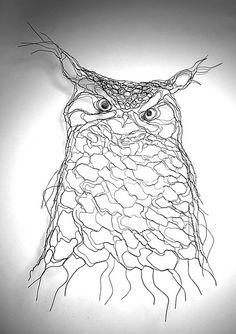 Elizabeth Berrien Wire owl