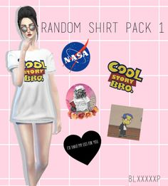 blxxxxxp: Hello again. Today I bring you a shirt pack with 5 swatches. Oh and guys, if you want any specific bands to be placed on a shirt, don't hesitate to tell me (because I'm planning to make a couple of these shirt packs lol.) download it here Credits: Mesh: JS SIMS/jinglestartk (I love you so much btw.) Sunnies: if anyone could tell me that would be great. It seems that I just can't find it in my mods folder -sighs- Hair: MissParaply