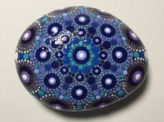 Hand Painted Mandala Stone, Mandala Meditation Stone, Dot Art Stone, Healing Stone, #370 by MafaStones on Etsy