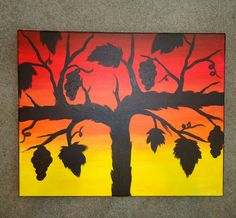Original ArtworkGrapevine Sunset by TheGoodWineArtist on Etsy