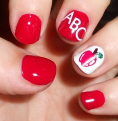 She Who Does Nails: Back to school - indoor with flash -- Jess, can you do this for me???