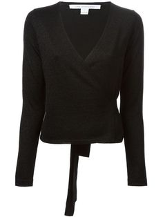 Shop Diane Von Furstenberg 'Ballerina' wrap sweater in Loschi from the world's best independent boutiques at farfetch.com. Over 1000 designers from 60 boutiques in one website.