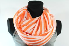 Breastfeeding and Nursing Cover,Easy Breastfeeding Cover For Nursing, Baby Infinity Scarf,Simple Mother Nursing Infinity Scarf-Orange Stripe by HenryNCompany on Etsy