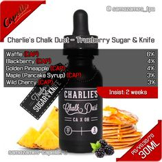 Рецепт жидкости Charlie's Chalk Dust - Trueberry Sugar & Knife (CAP)