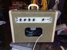 Back of my suitcase guitar amp