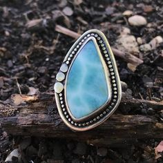 This girl went home today:)) Lovely custom Larimar ring that I just finished. It's been a while since I made this style of boarder and now I want to make more like thislooks like you can jump in :)   #handmadeisbetter #larimarring #larimarjewelry #beachyjewelry #beachy #hawaii #maui #handmadering #handmadejewelry #larimar #beachy #summerfashion #mermaid #merlife #hippiechic #statementring #statementjewelry #bohojewelry #chunkyring #boho  #bohemian #bohemianjewelry #bohemianring…