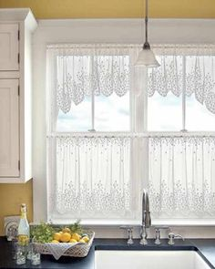 Kitchen Cafe Curtains Granite Slab For 89 Best Tier Images Half Brighten Up Your Windows With This Simple Yet Intricate Lace Curtain By Heritage