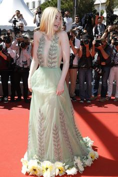 Elle Fanning in Gucci - Cannes 2017