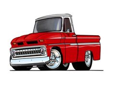 Full color prints of just about any the images you will ever see on my site are available for purchase 1966 Chevy Truck, Classic Chevy Trucks, Cool Car Drawings, Pencil Drawings, Art Drawings, Cool Trucks, Gmc Trucks, Pickup Trucks, Truck Art