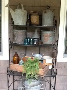 Bakers Rack On The Porch. Outdoor ShelvesThe ...