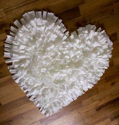 from etsy...NEW Feel Love Collection Heart Shaped Rug in White by talkingsquid, $60.00
