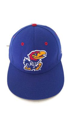 Kansas Jayhawks The Game 1990 s Flat Bill Fitted Hat Cap NCAA Wool Blend 7  1 4