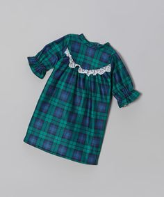 Take a look at this Navy Plaid Doll Nightgown by Cozytime on #zulily today!