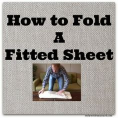 FINALLY! A visual on how to actually fold those impossible fitted sheets! #laundry #folding #sheets #cleaning