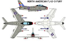 North American FJ-2-3 Fury The XFJ-1 marked the entry of North American into the field of jet-propelled military aircraft. The first prototype flew on 27 November 1946. Thirty production FJ-1 singl...