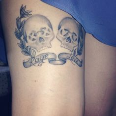 21st century breakdown green day tattoo on my thigh