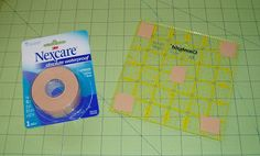 Quilts: I Just Learned a New Quilting Trick!!  Nexcare tape by 3M $4.99, roll lasts forever