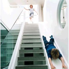 This will be the staircase in my dream house. And I will totally be using the slide.