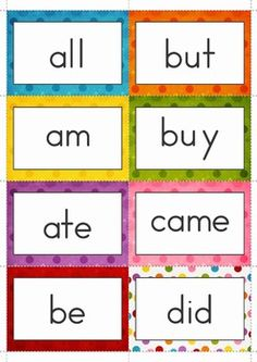 Sight Words - FREE Memory Game (Primer Words)